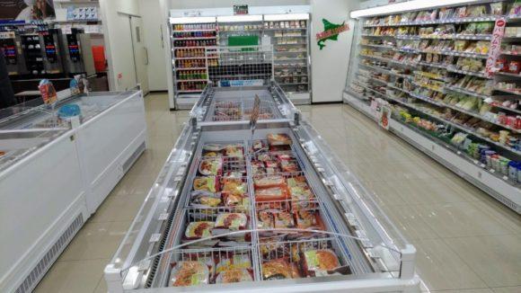 セブンイレブンの冷凍食品コーナー