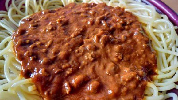 セブンイレブン麺類おすすめ③ミートソースパスタ